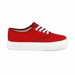 MARIE-01 Lace Up Women's Canvas Sneakers